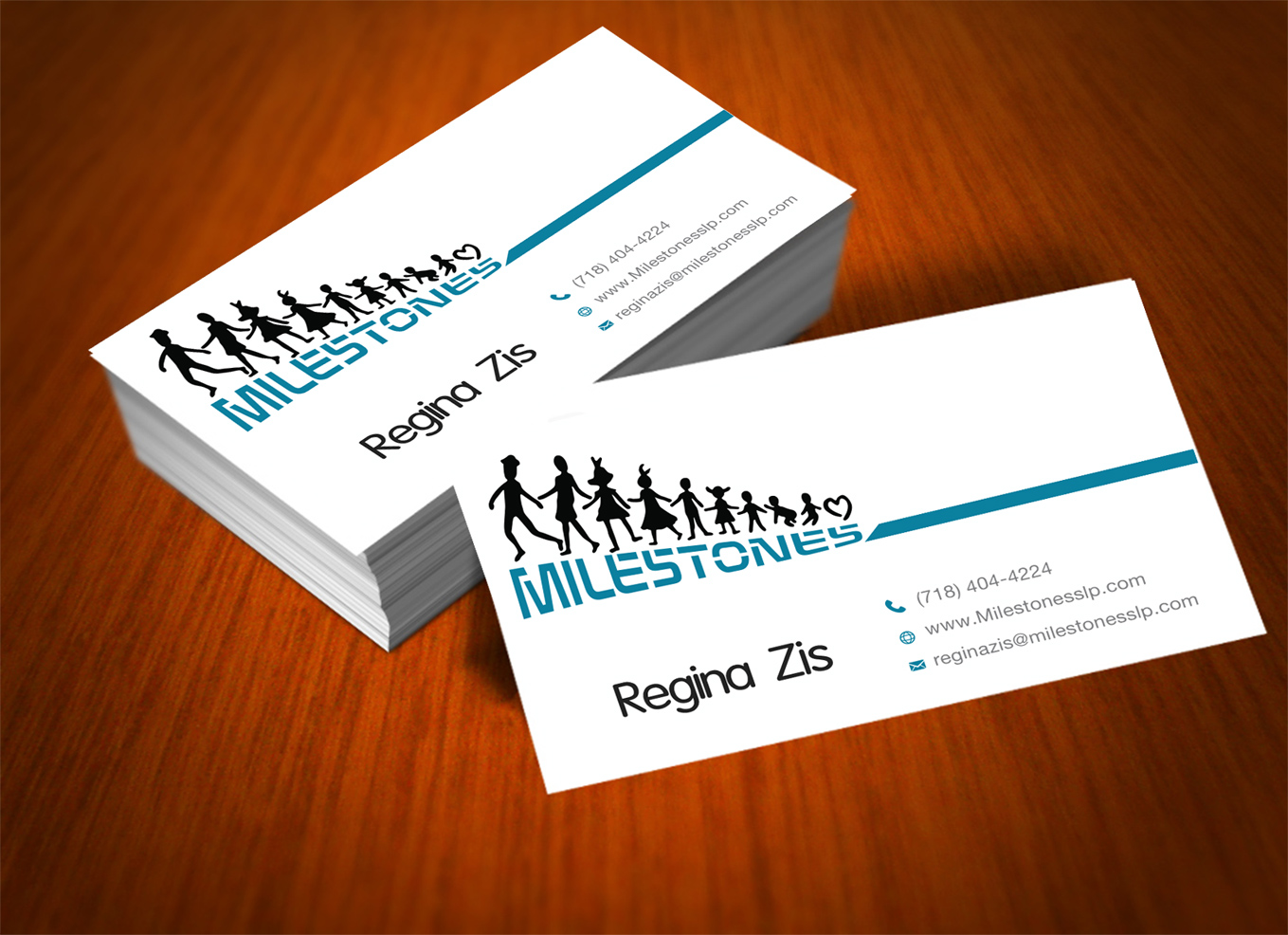 Elegant playful business business card design for milestones by business card design by unique panta for milestones design 13358634 reheart Choice Image