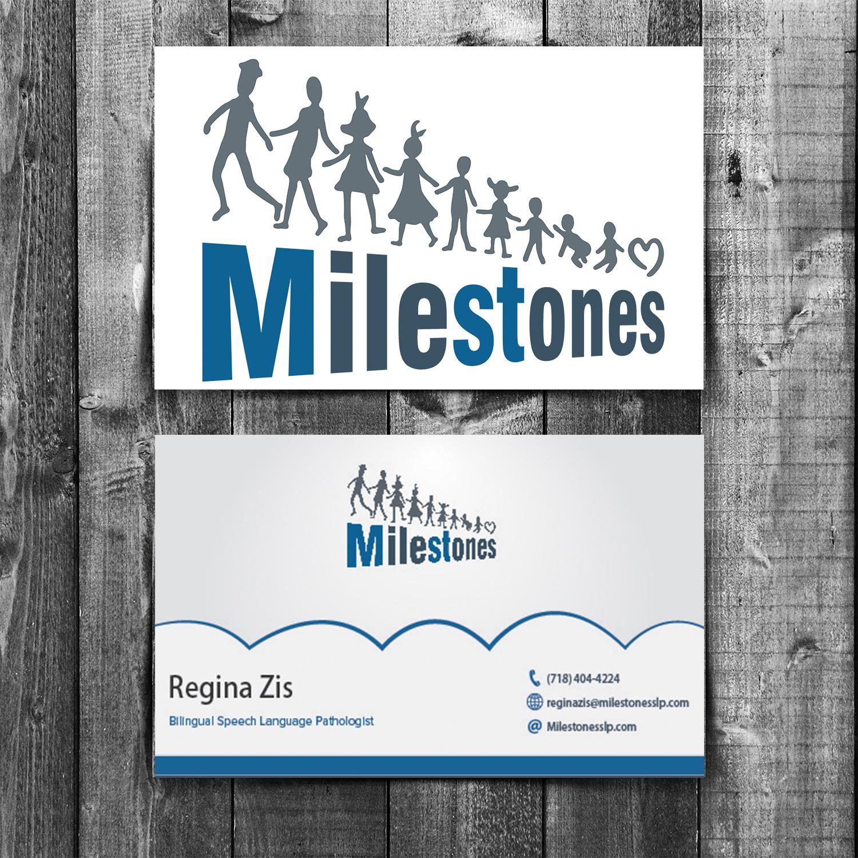 elegant playful business card design for milestones by