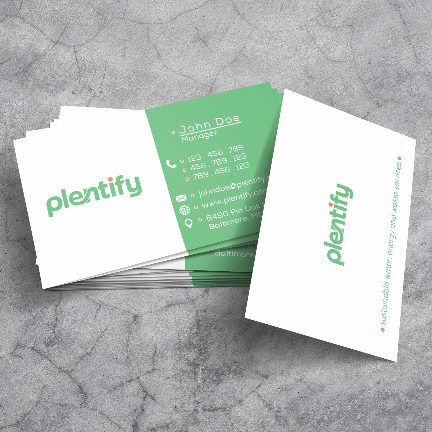 Modern, Professional, Utility Business Card Design for Plentify by ...