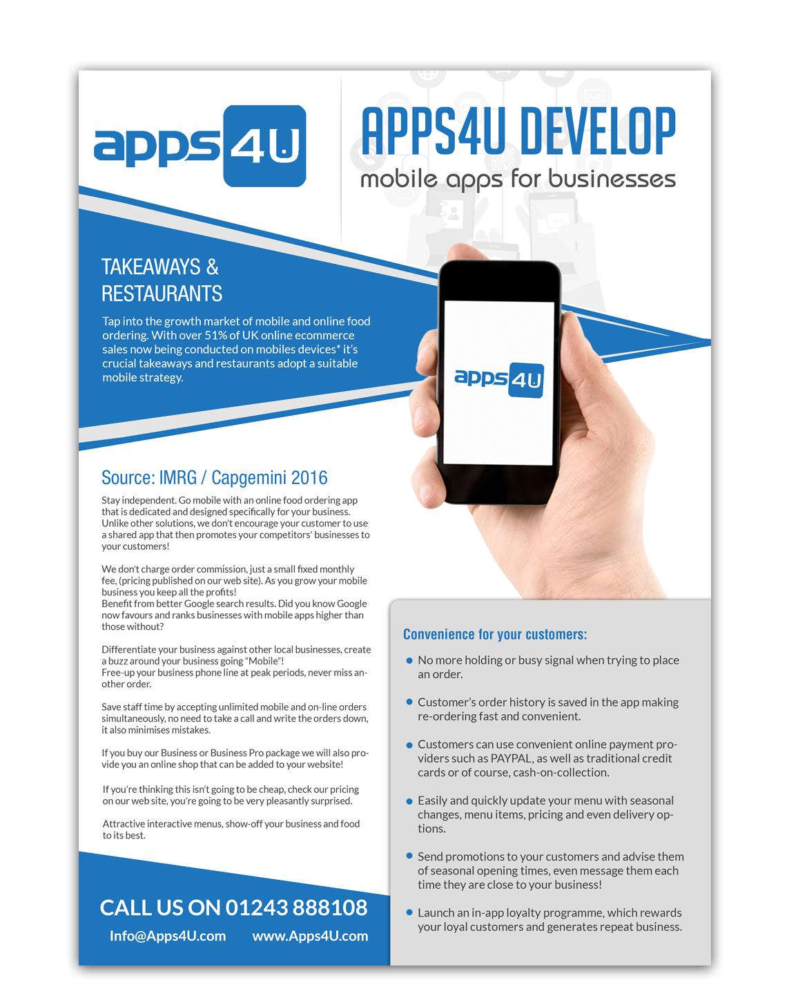 modern playful flyer design for apps4u by hih7 design 13371243