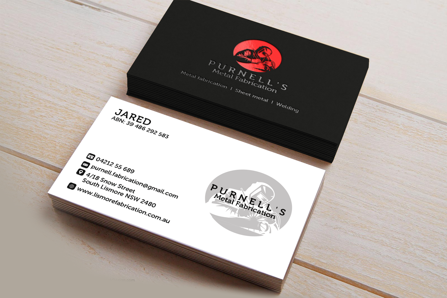 Magnificent metal business cards australia photos business card elegant playful business business card design for purnells metal reheart Gallery