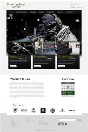 Web Design by Creative James - Shooting Sport Center Indoor shooting range