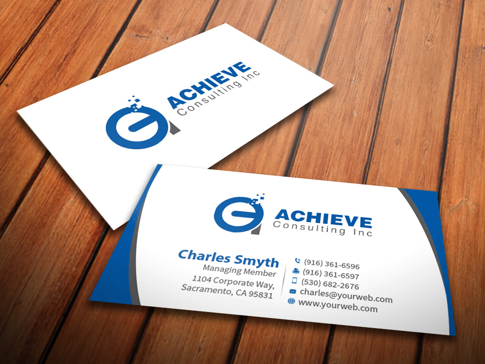 Professional masculine business consultant business card design business card design by mediaproductionart for this project design 13402531 colourmoves Images