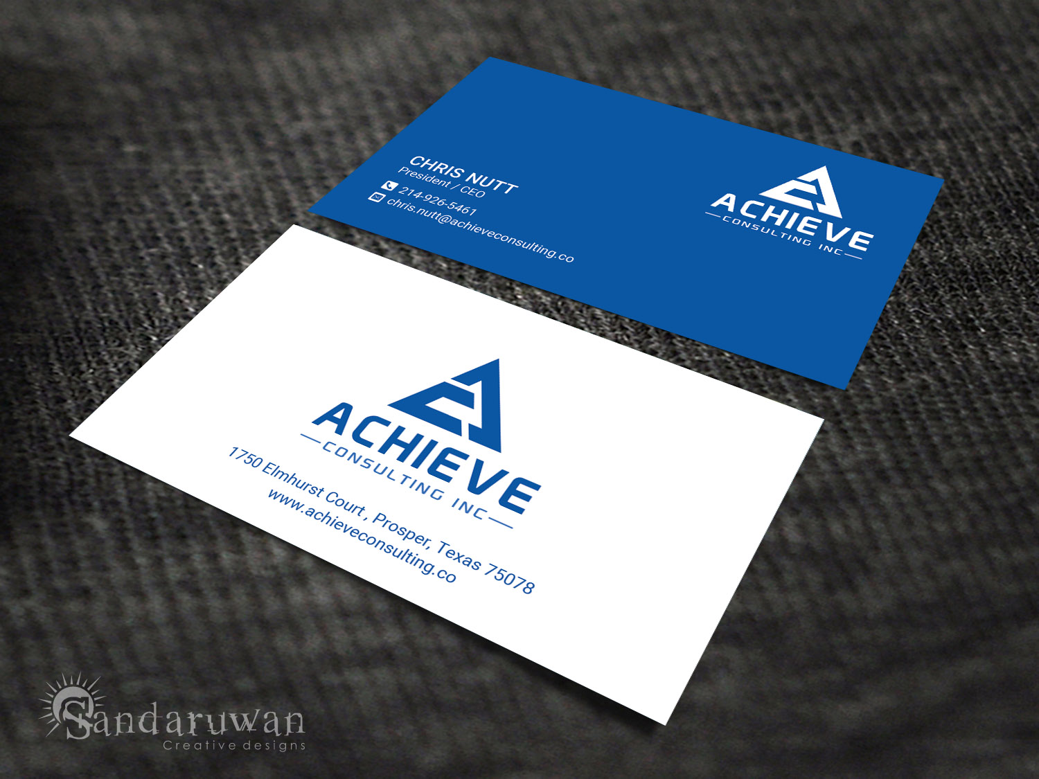 Professional masculine business card design for christopher nutt by business card design by sandaruwan for achieve consulting inc enterprise resource planning all colourmoves Choice Image