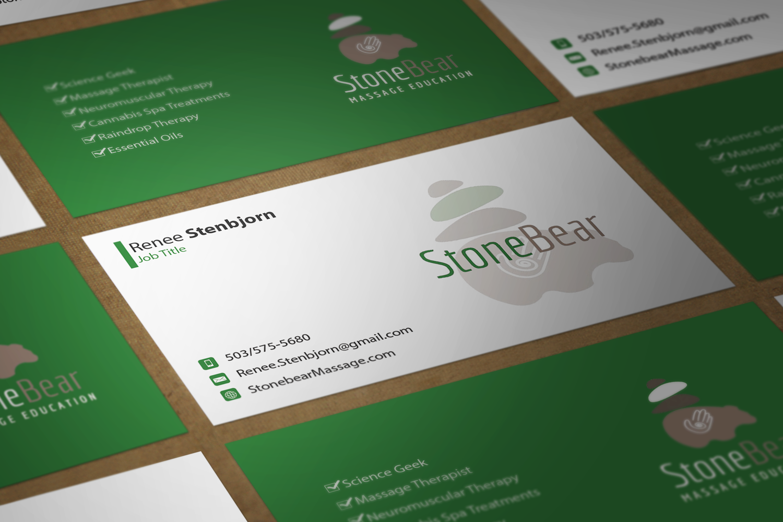 Playful, Modern Business Card Design for Renee Stenbjorn by Riz ...