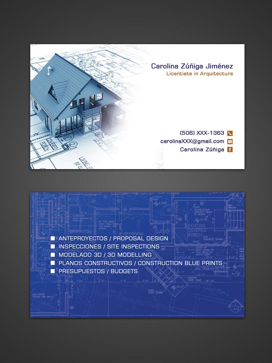 Design De Carte Visite Moderne Audacieux Architect Pour A Company En Aux Costa Rica