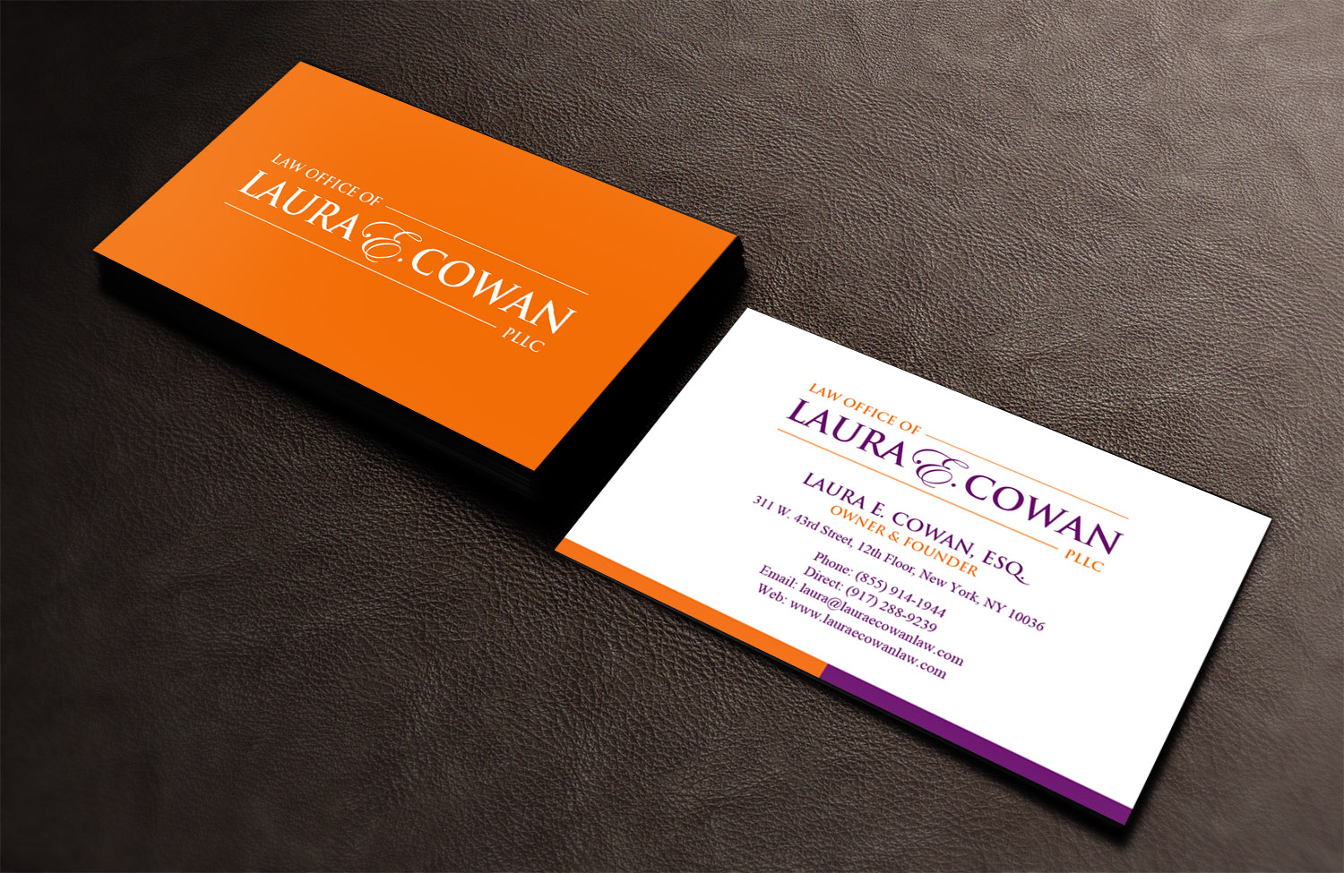 Modern, Feminine, Lawyer Business Card Design for a Company by ...