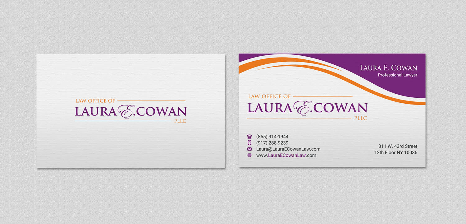 Modern feminine lawyer business card design for a company by business card design by indianashok for this project design 13423670 reheart Gallery