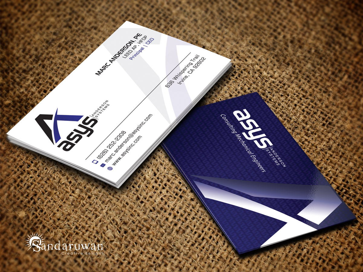 Modern, Professional Business Card Design for asys, inc by ...