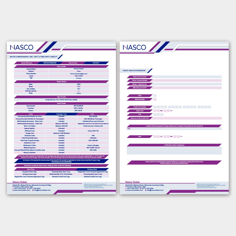 Modern Professional Newsletter Design for NASCO by Nightmist – New Quotation Format