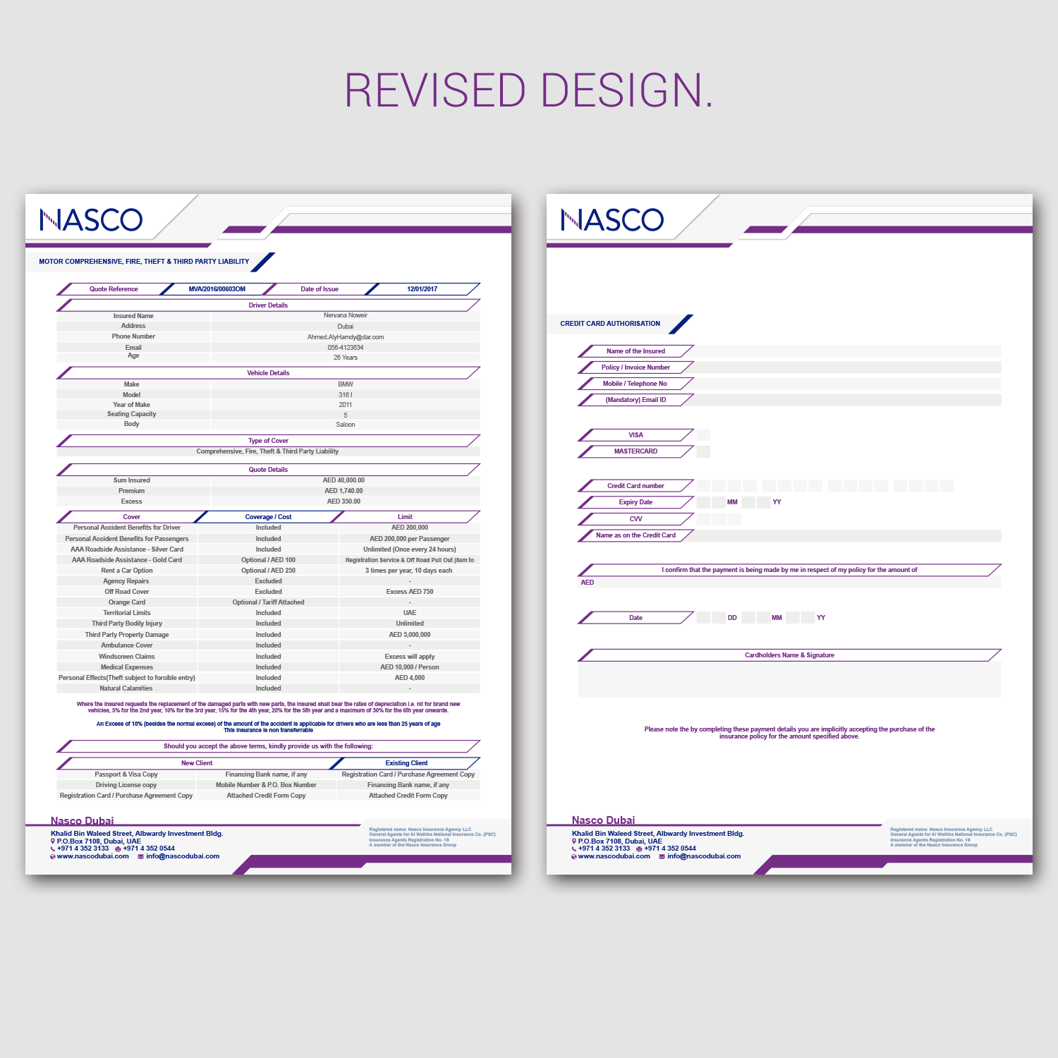 Modern Professional Newsletter Design for NASCO by Nightmist – New Quotation Format