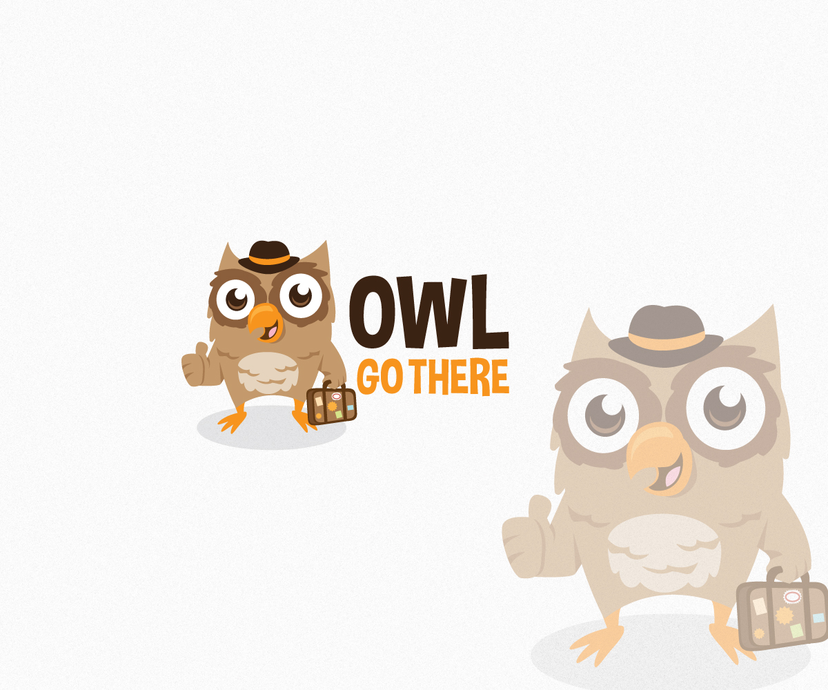 Owl Logo Design by Alexander for Owl Go There