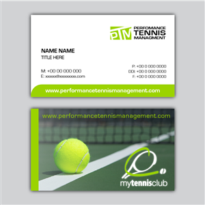 Tennis business card design galleries for inspiration page 2 performance tennis management needs a business card business card design by vivid design colourmoves