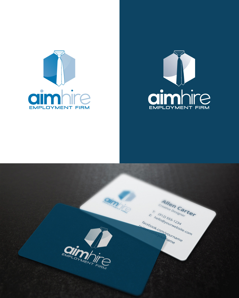 Modern Professional Employment Agency Logo Design For Aim Hire By Noishotori Design 13563124