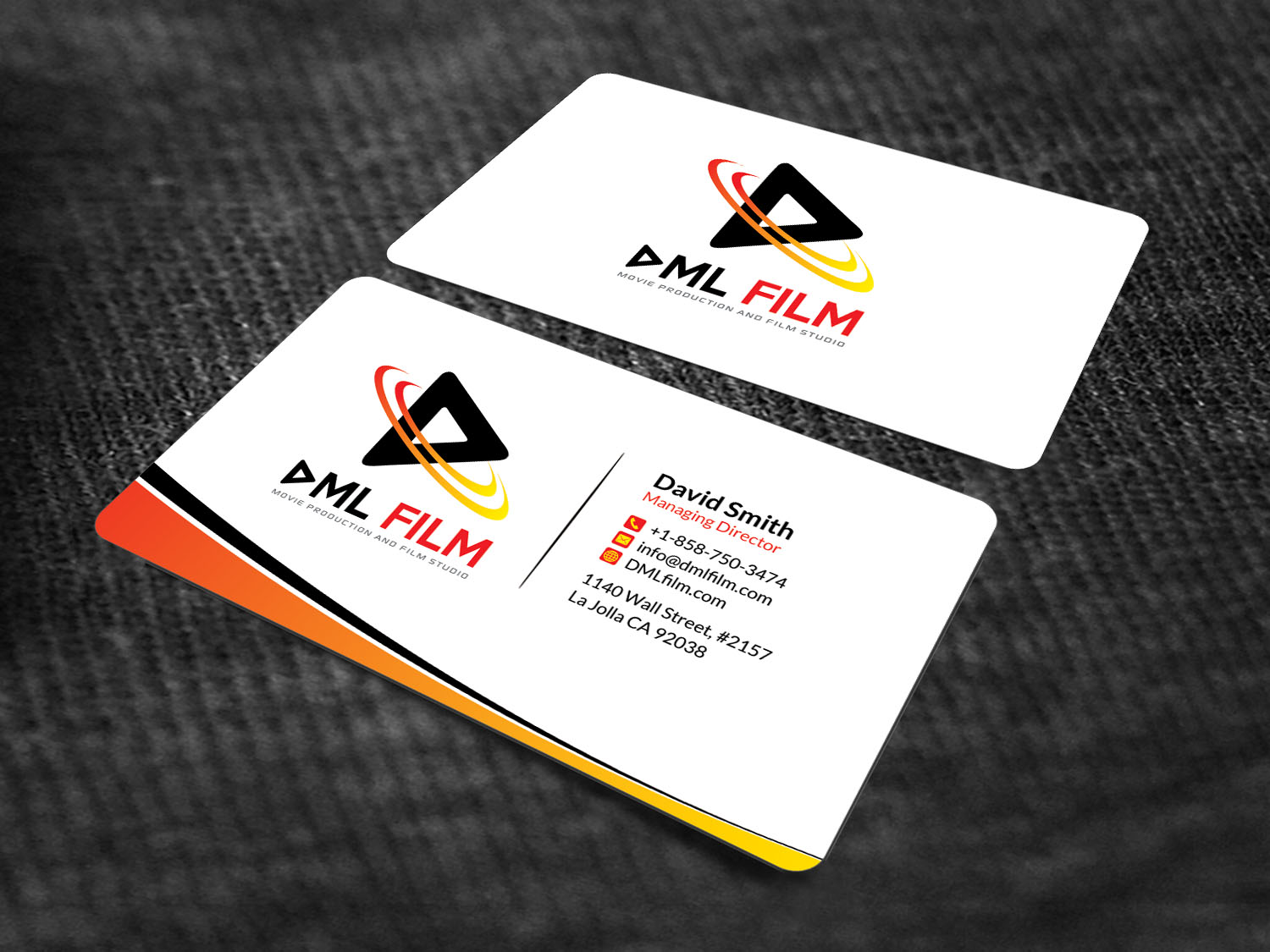 Elegant playful entertainment industry business card design for d business card design by sandaruwan for dsouza entertainment design 13486514 reheart Images