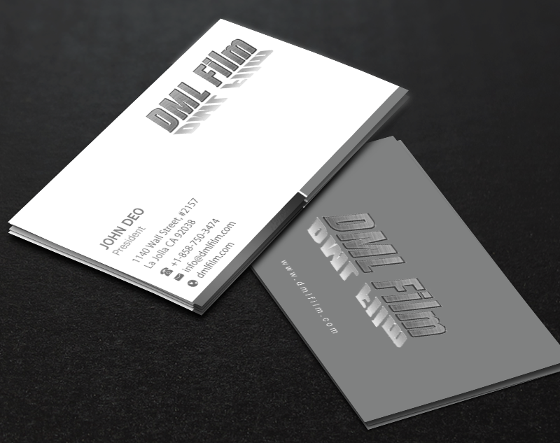 Elegant playful entertainment industry business card design for d business card design by brand aid for dsouza entertainment design 13498904 reheart Image collections
