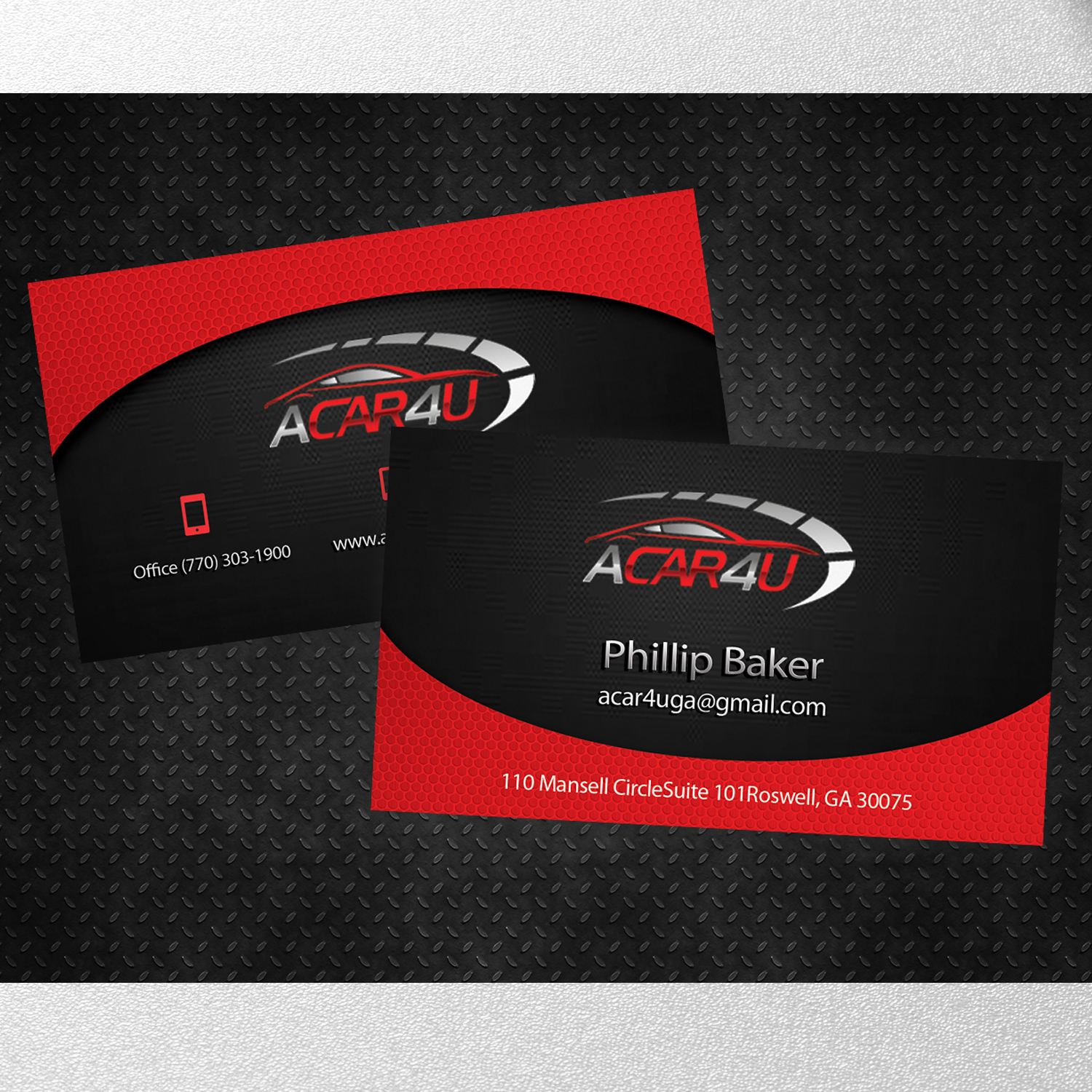 Modern upmarket business card design for phillip baker by business card design by kreativedesk for used car dealer seeks an amazing business card design magicingreecefo Image collections