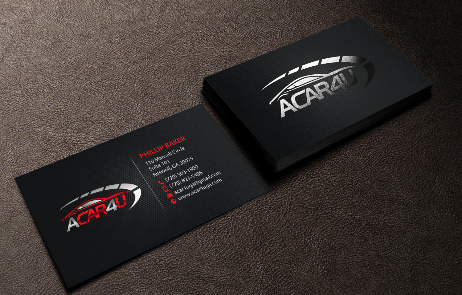 Modern upmarket business card design for phillip baker by business card design by chandrayaaneative for used car dealer seeks an amazing business card magicingreecefo Image collections