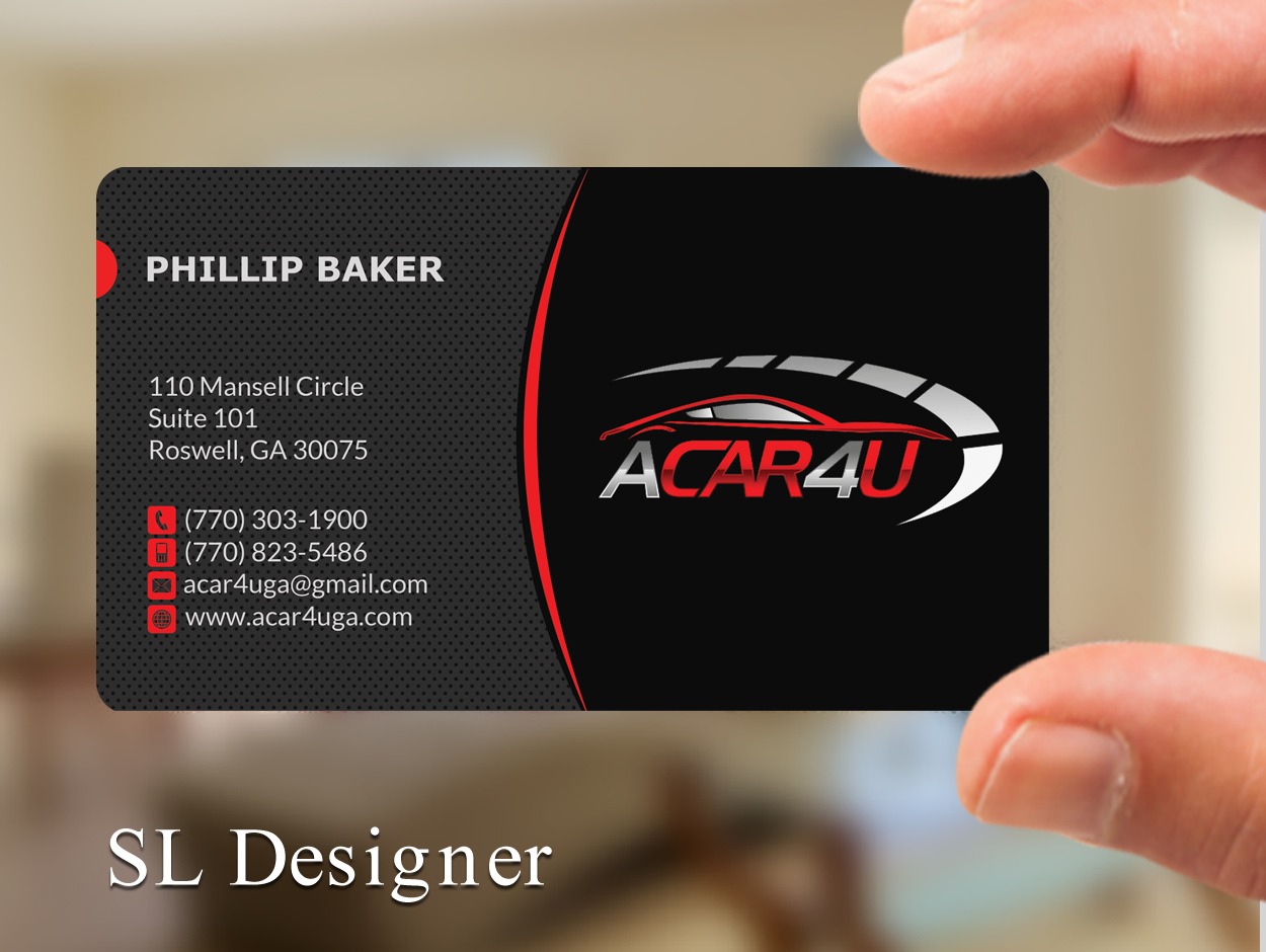 Modern upmarket business card design for phillip baker by sl business card design by sl designer for used car dealer seeks an amazing business card design magicingreecefo Image collections
