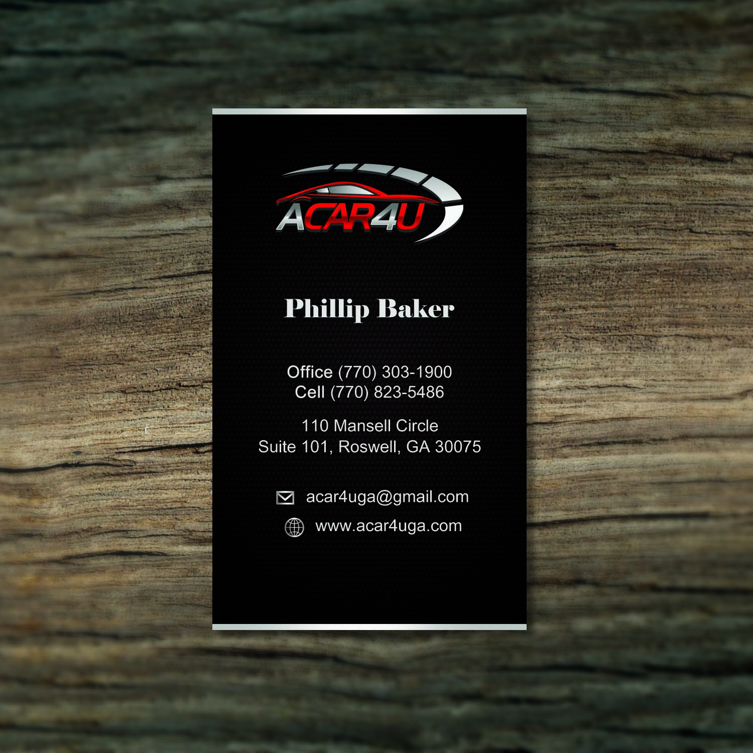 modern upmarket business card design for phillip baker by