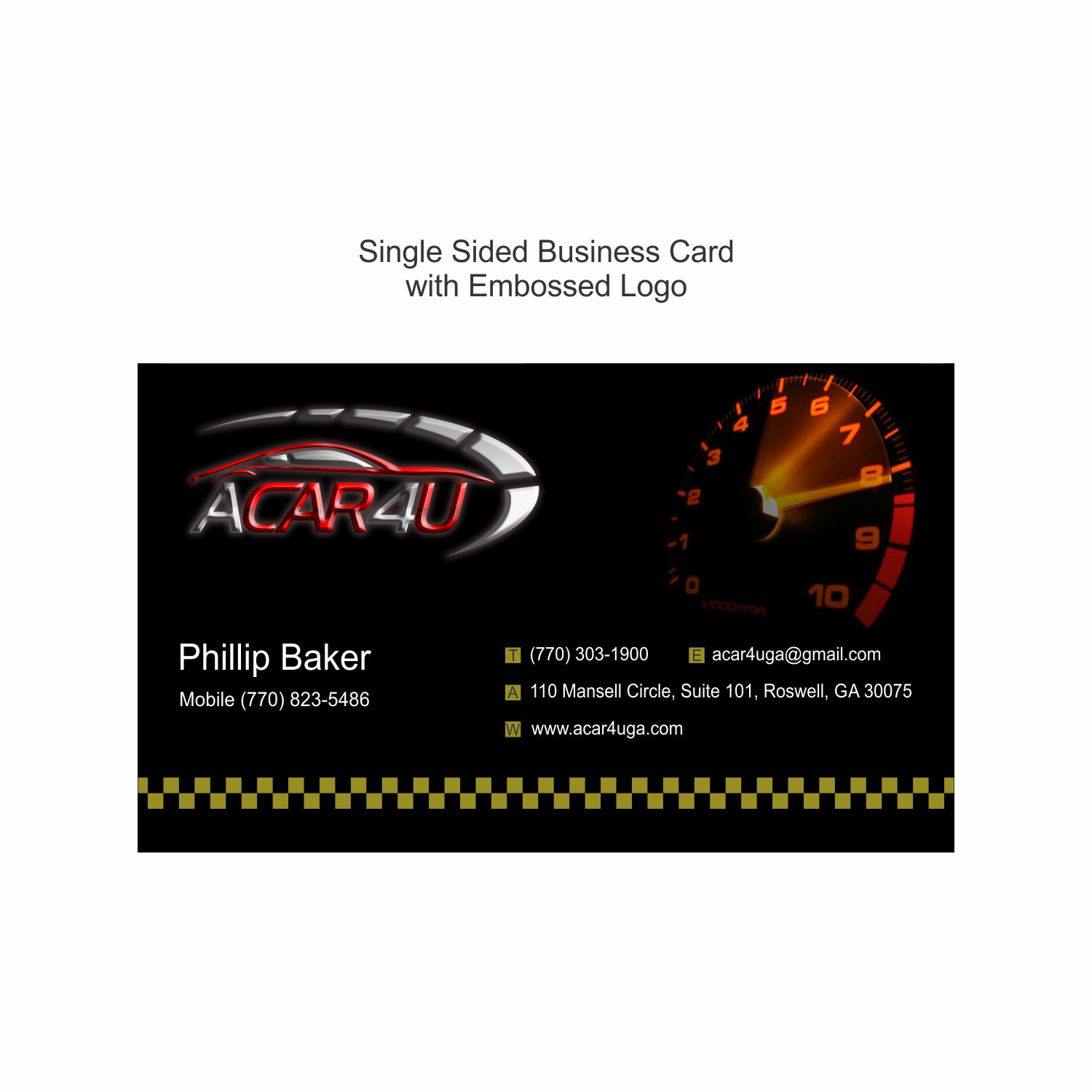 Used Cars Business Cards Gallery - Card Design And Card Template