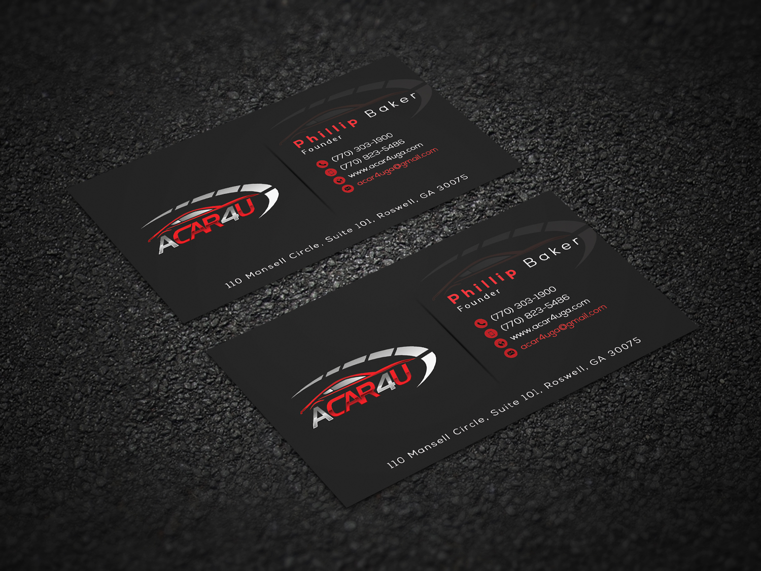 Modern upmarket business card design for phillip baker by hr 36 business card design by hr 36 for used car dealer seeks an amazing business card design magicingreecefo Image collections