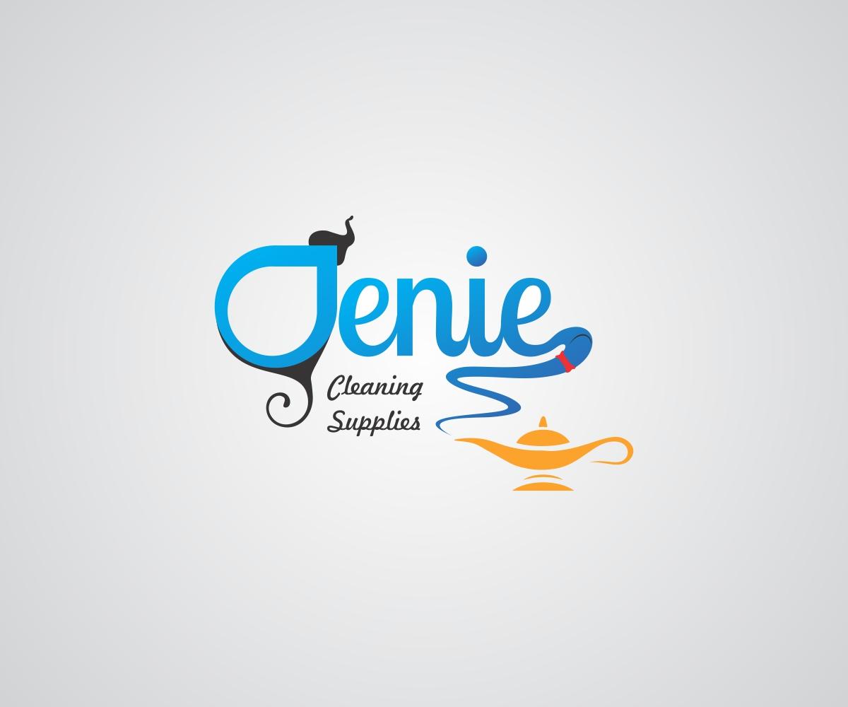 modern professional it company logo design for genie