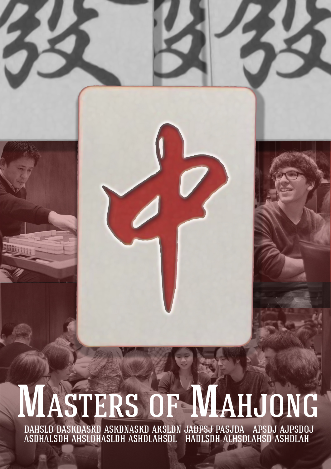 Poster design documentary - Poster Design By Nanocb72 For Movie Poster Design Documentary About Mahjong Design 13577377