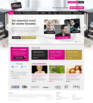 Web Design by iPlayers - New Australian Event targeting the Office Indus...