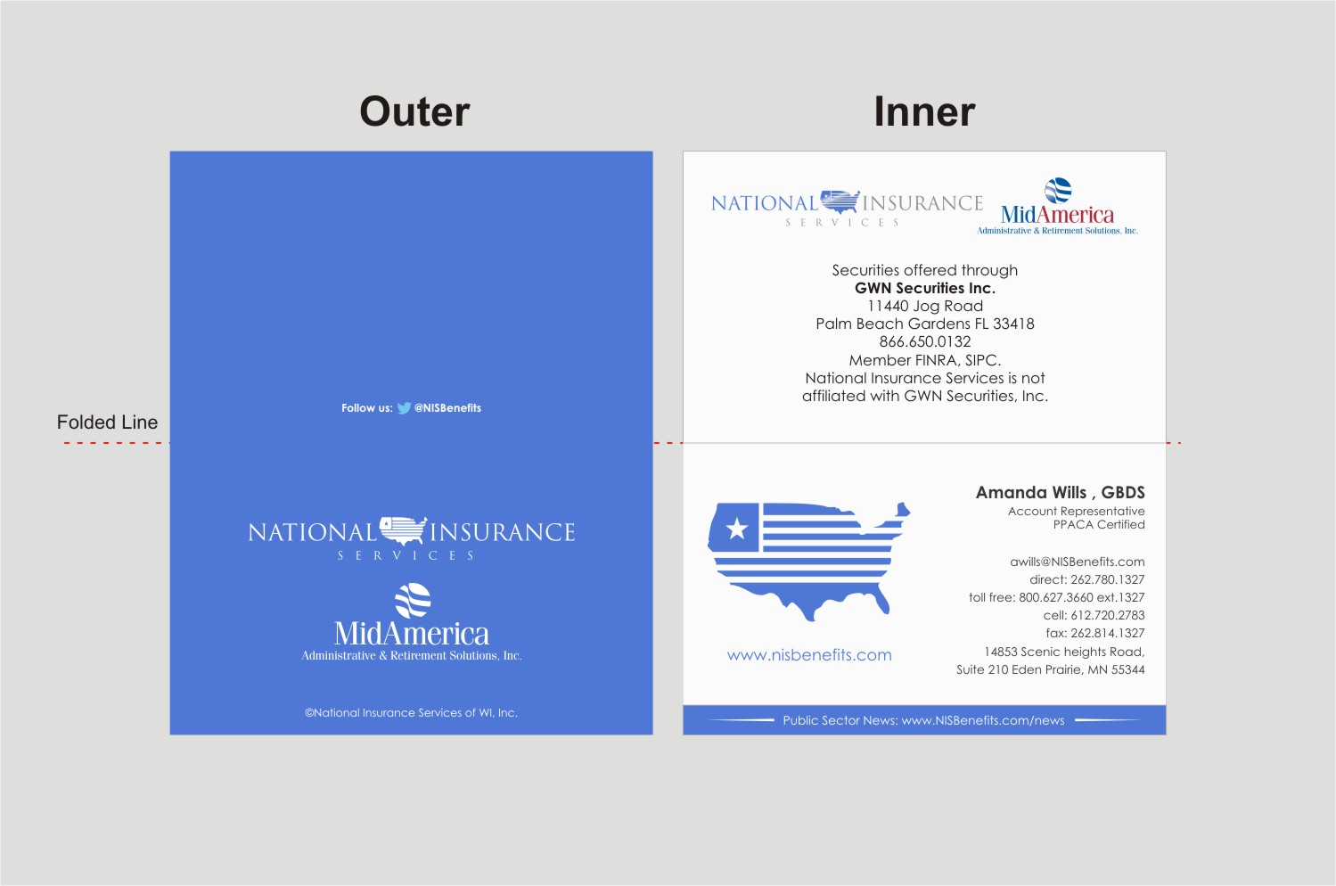 Serious professional insurance business card design for national business card design by indianashok for national insurance services design 13700677 colourmoves
