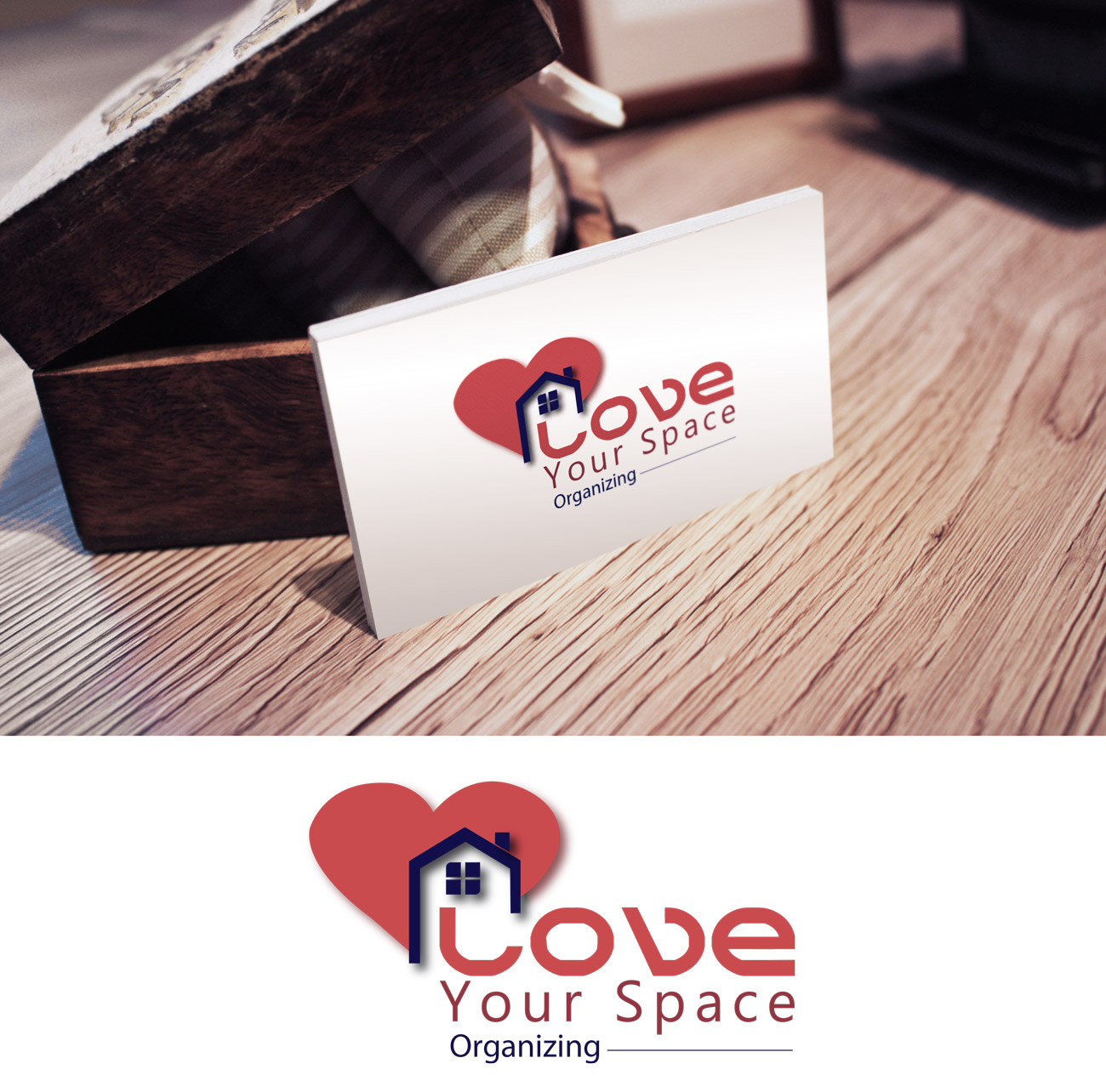 Business Logo Design for Love Your Space Organizing by Black ...