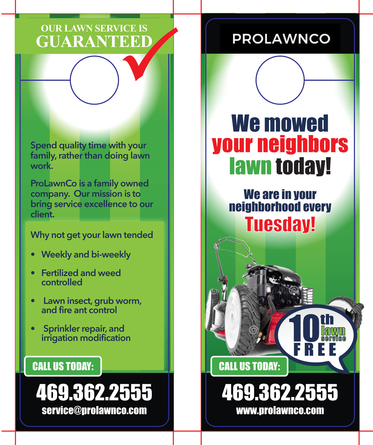 bold playful lawn care flyer design for prolawnco in united states design 13641028