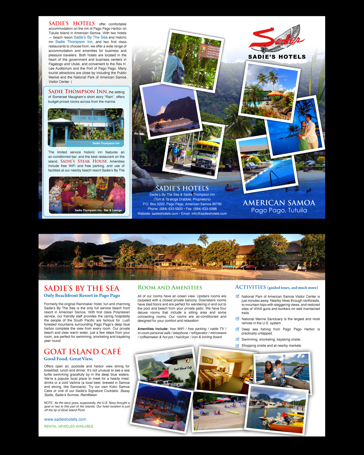 brochure design by uniquedesign10 for sadies hotels design 13826984