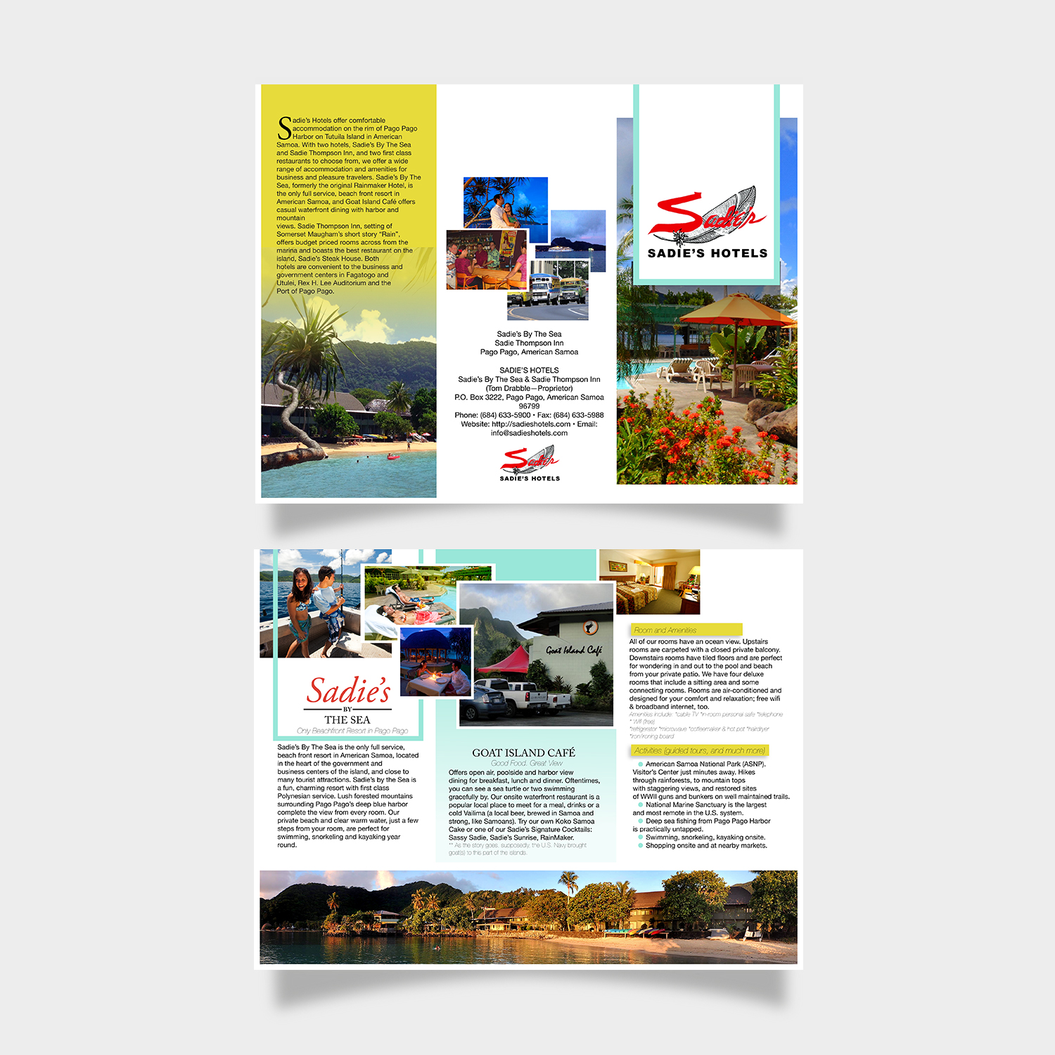 brochure design by nguyen for sadies hotels design 13597115