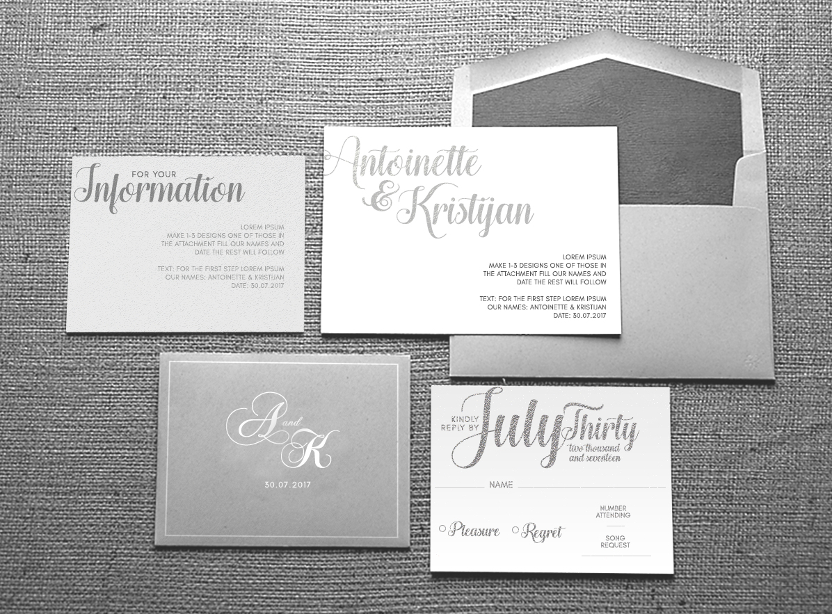 Ideen Job.Upmarket Elegant Invitation Design Job Invitation Brief