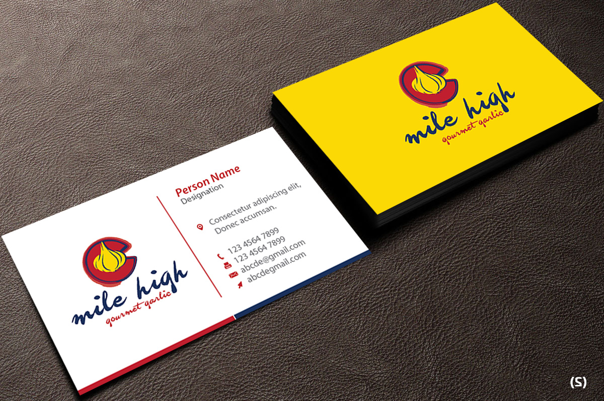 Playful, Personable Business Card Design for Mile High Gourmet ...