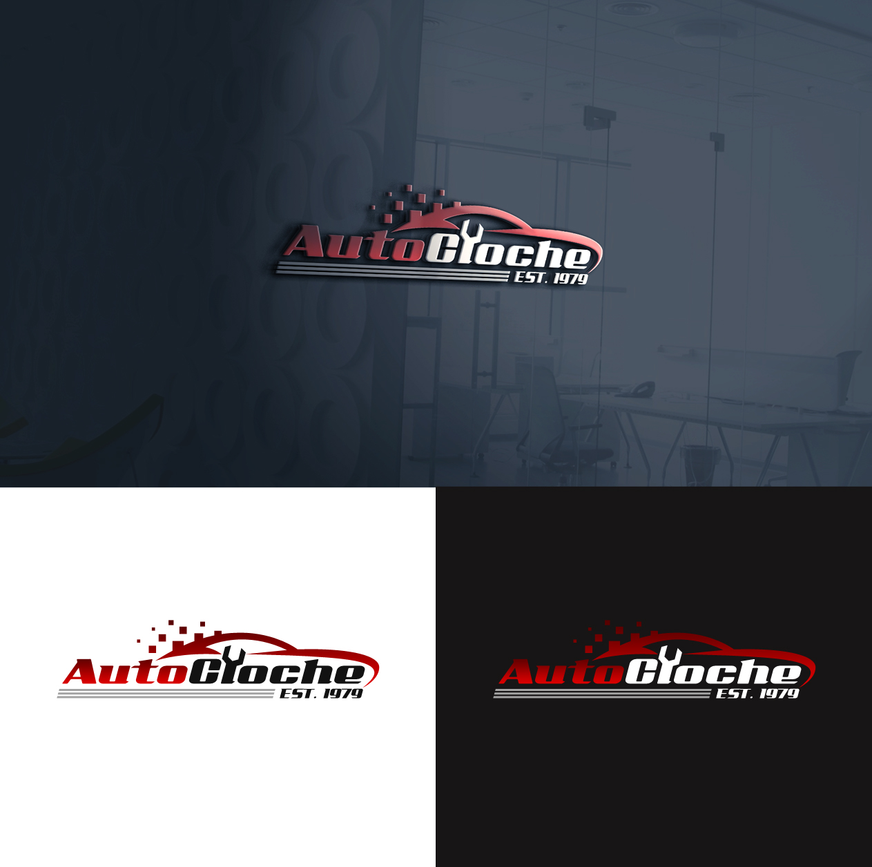 Professional Bold Car Repair Logo Design For Autocloche By
