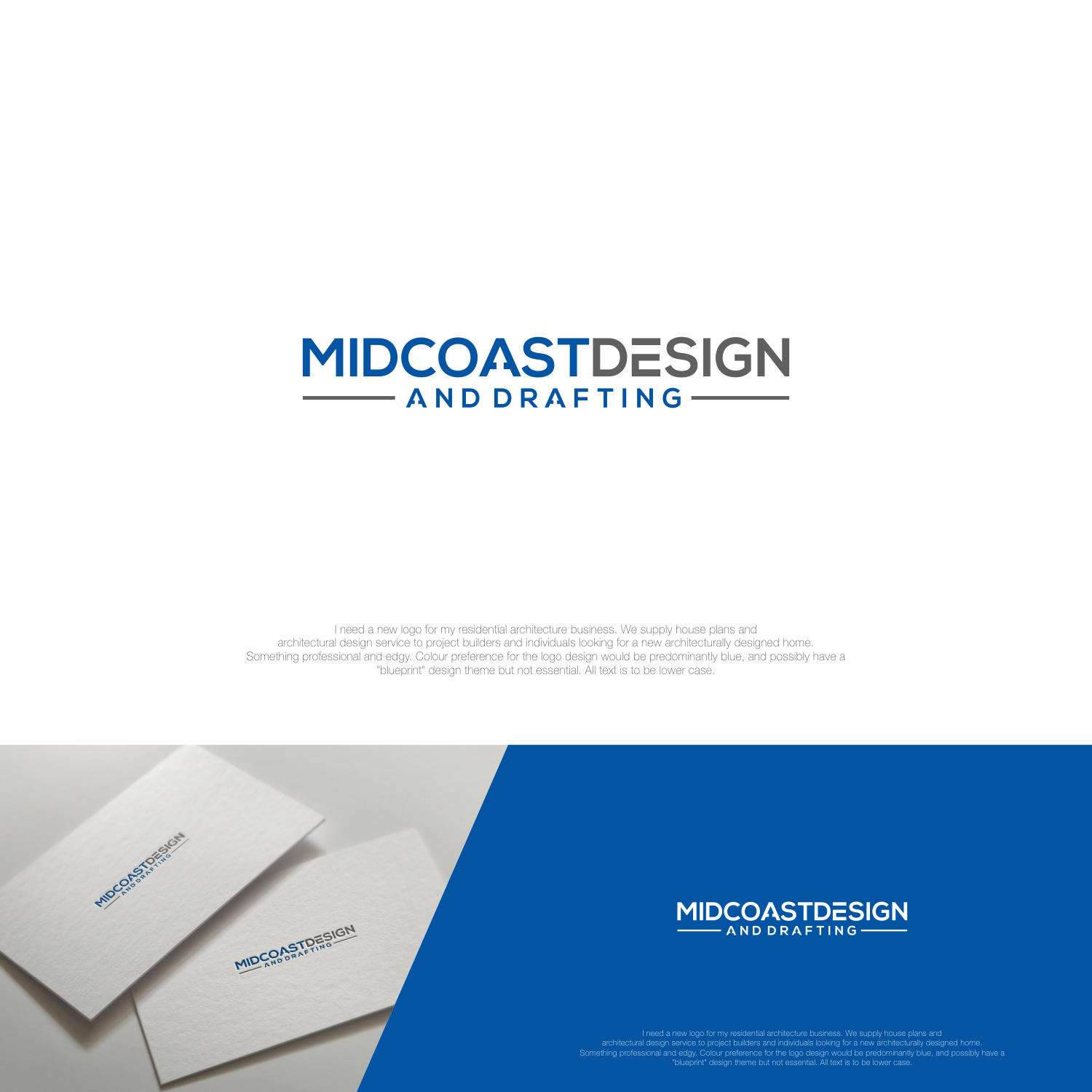 Modern professional logo design for midcoast design drafting by logo design by jenggotmerah for modern edgy logo for architectural design business design 13789426 malvernweather
