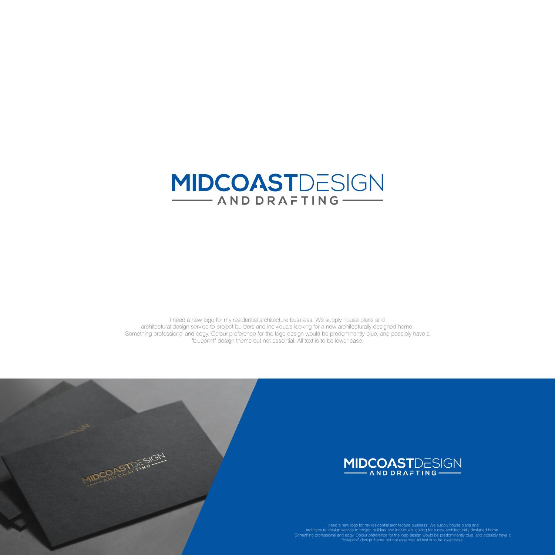 Modern professional architecture logo design for midcoast design logo design by jenggotmerah for midcoast design drafting design 13789427 malvernweather Choice Image