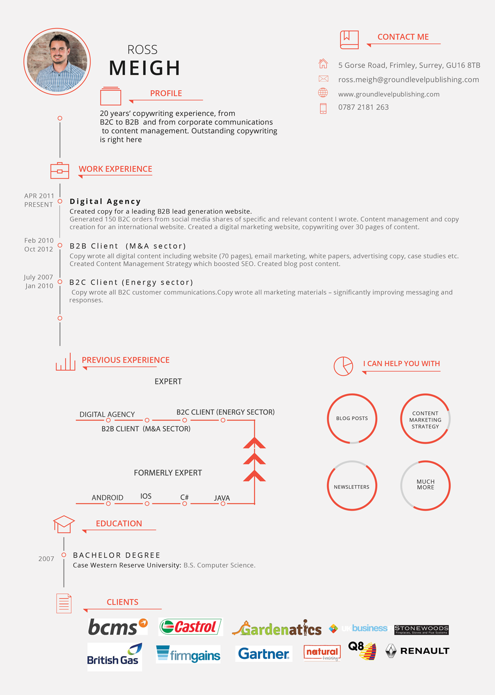 Modern, Upmarket Resume Design for a Company by Power Design ...