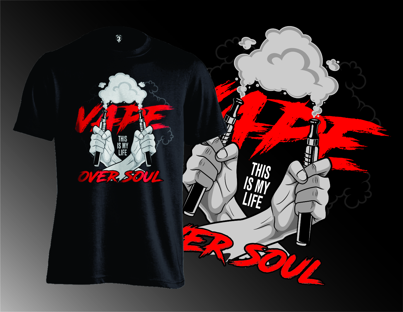 Personable Upmarket Cigarette T Shirt Design For Steamium Vape