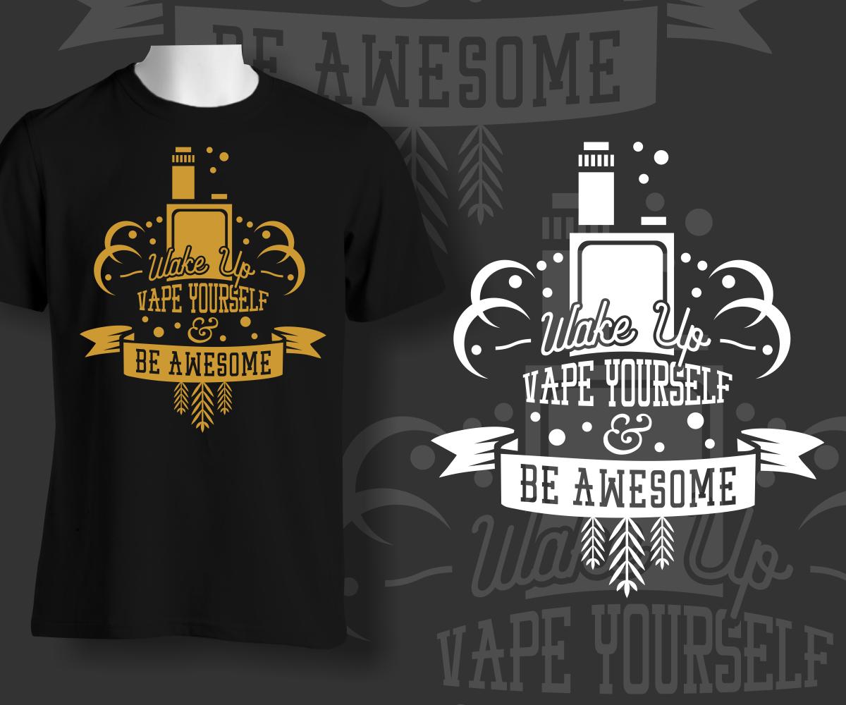 Design T Shirts Store | Sympatisch Gehobenes Cigarette T Shirt Design Fur Steamium Vape