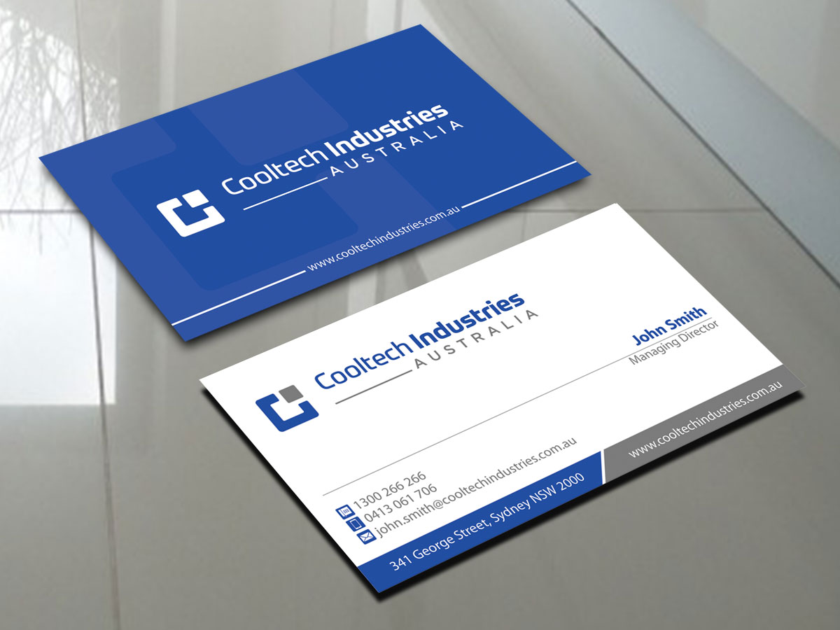 Serious, Masculine, Business Business Card Design for a Company by ...