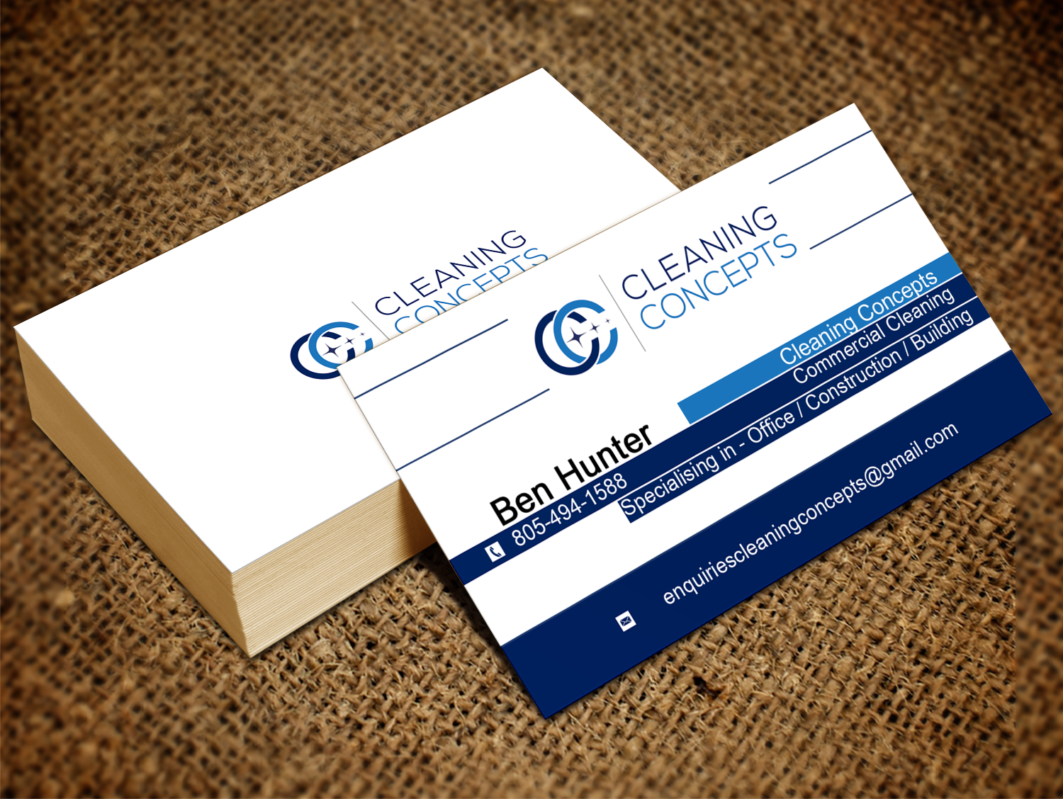 Modern, Professional Business Card Design for Cleaning Concepts ...