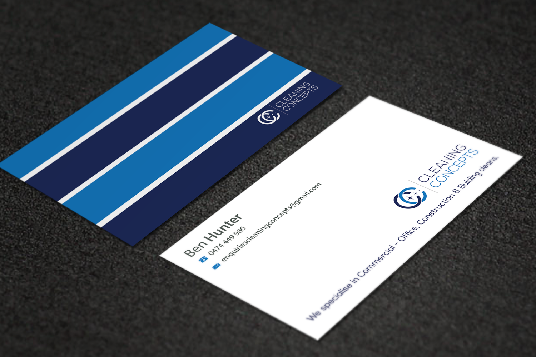 Modern professional business card design for cleaning concepts business card design by riz for commercial cleaning business needs proffesional clean smart magicingreecefo Choice Image