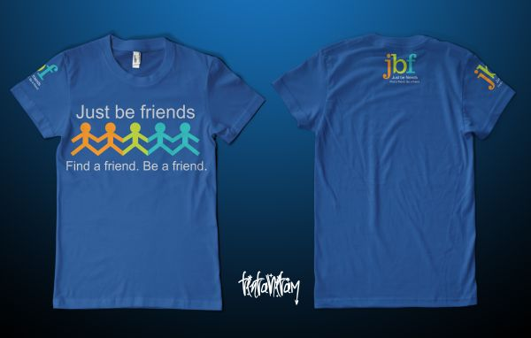 Elegant Playful T Shirt Design For Just Be Friends