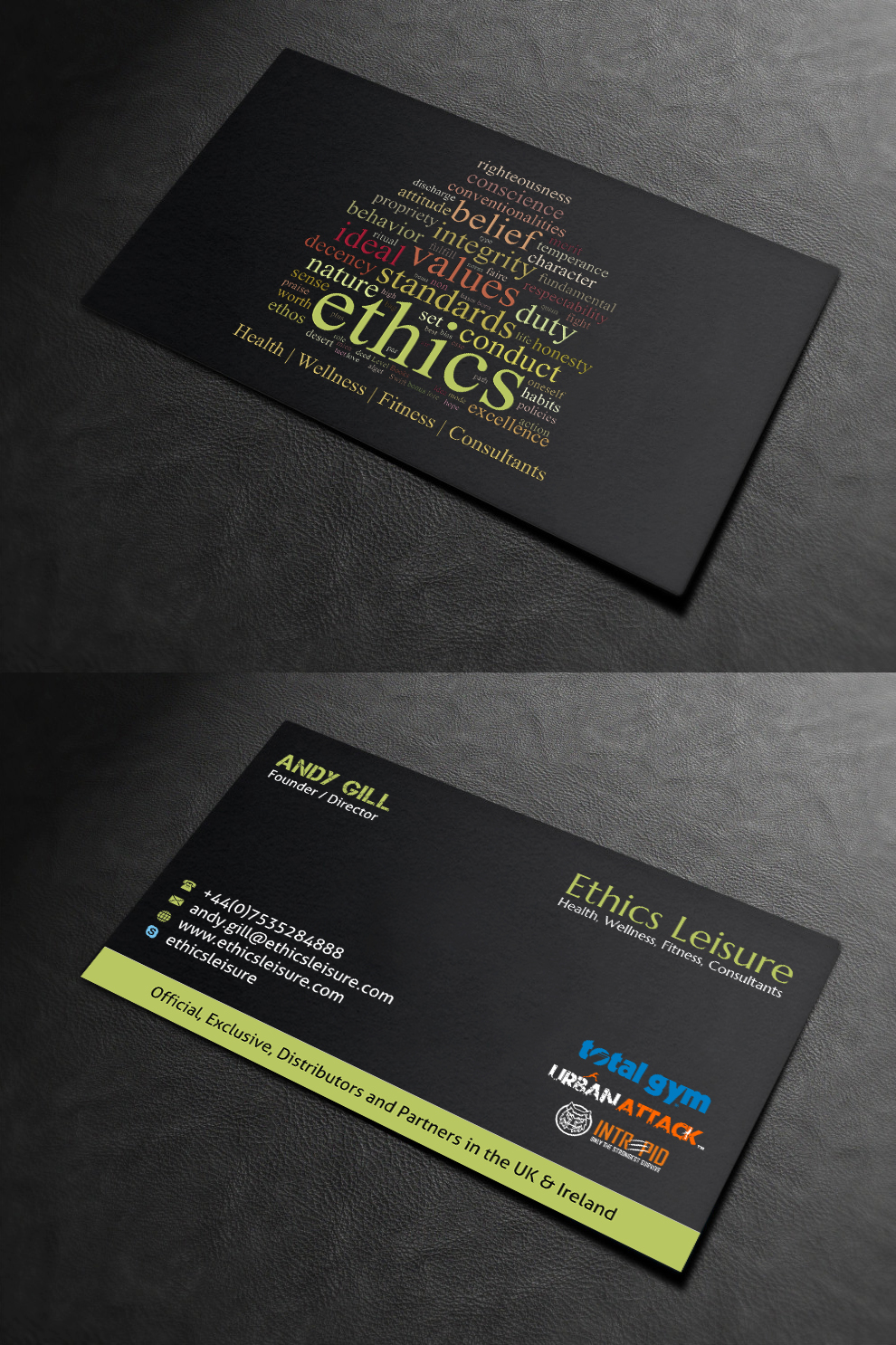 Fitness business card design for a company by indianashok design business card design by indianashok for this project design 13709442 colourmoves
