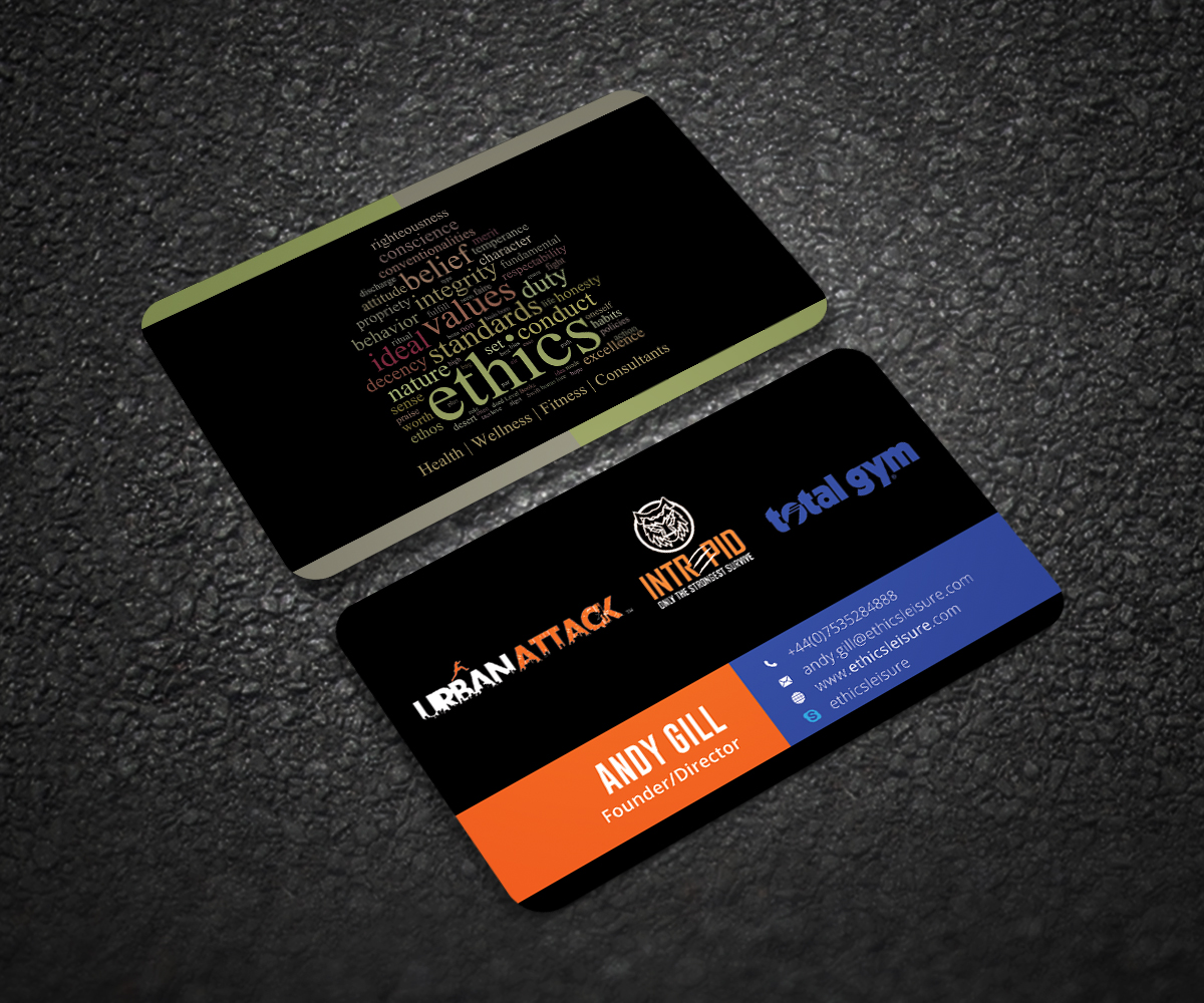 Fitness Business Card Design for a Company by Graphic Flame | Design ...
