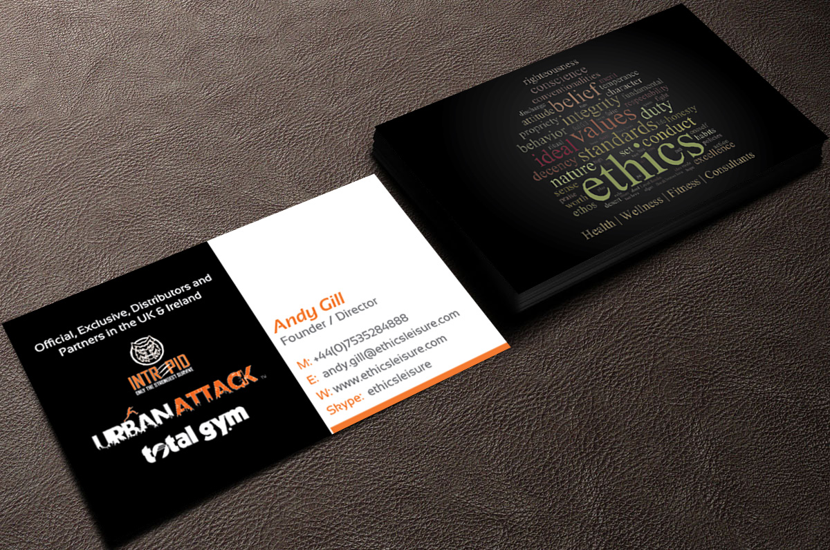 Fitness business card design for a company by designanddevelopment business card design by designanddevelopment for this project design 13682417 colourmoves