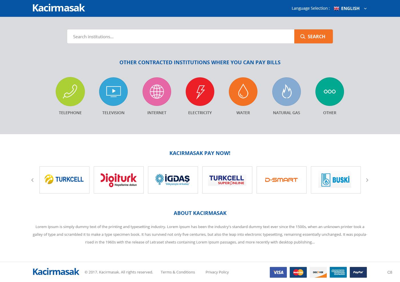 bold serious invoice web design for kacirmasak in turkey design 13710386
